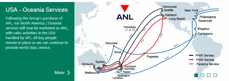 ANL container tracking route