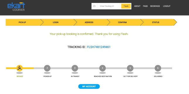 ekart tracking steps & tracking tool