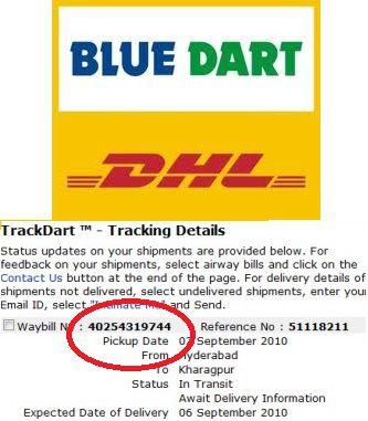 Blue Dart Tracking Blue Dart Courier Delivery Satus