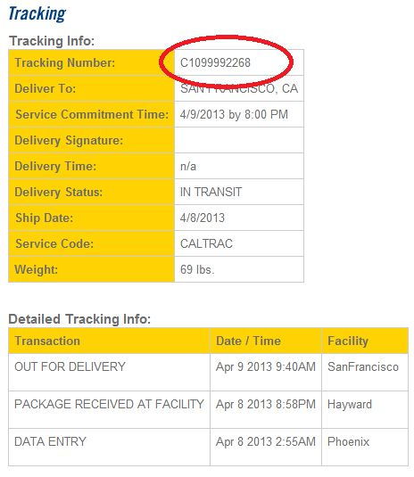 ontrac tracking