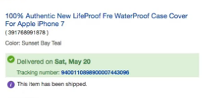 ebay parcel tracking