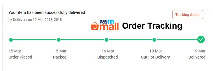 paytm order tracking